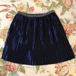 Blue velvet skirt Size 8